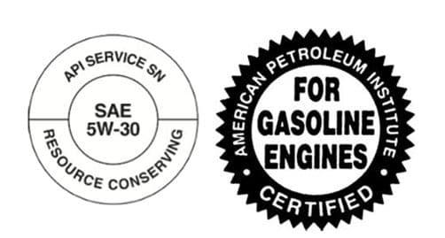 a SAE 5W-30 oil label
