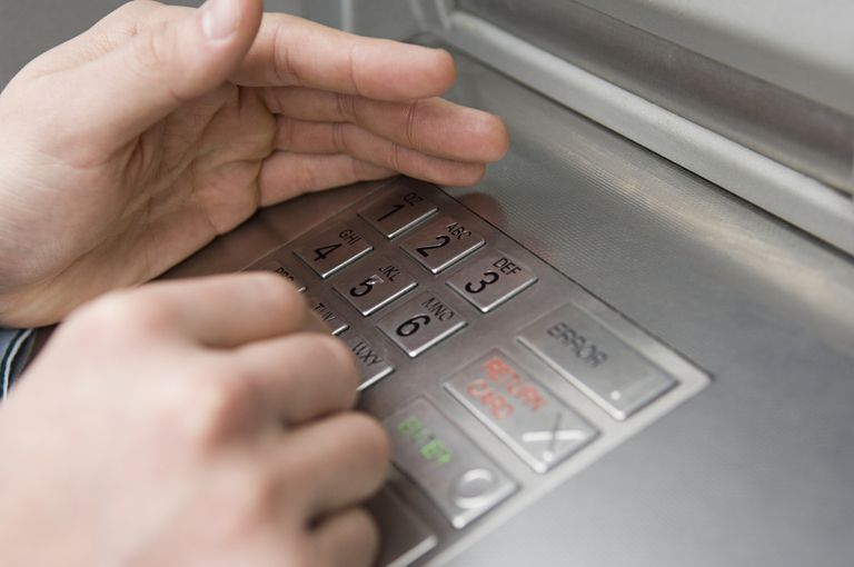 a pin pad for credit cards
