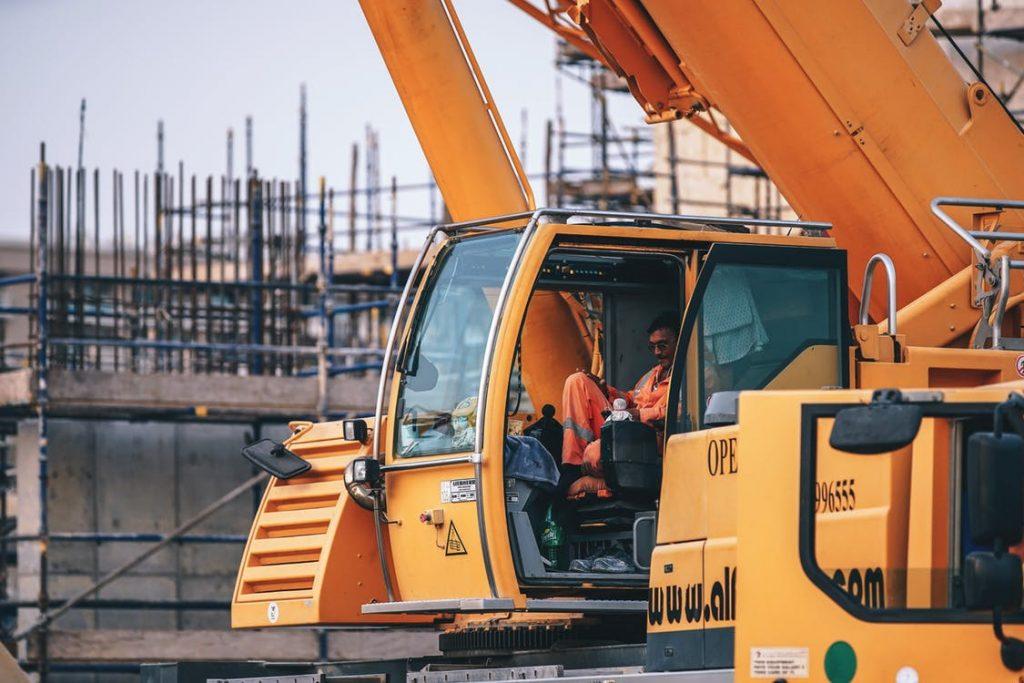 construction equipment running on fuel
