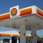 a shell branded gas station