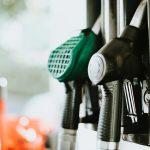 a gas station fuel pump handle