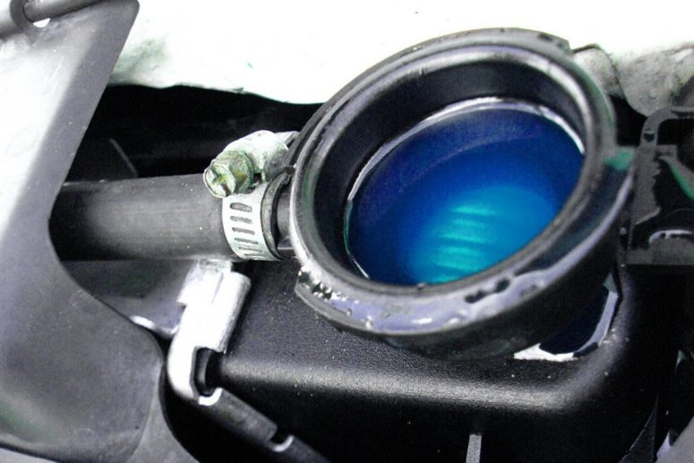 a coolant in a car engine