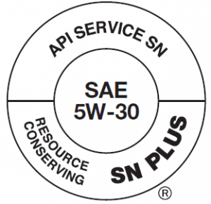 A Society of Automotive Engineers oil grade label
