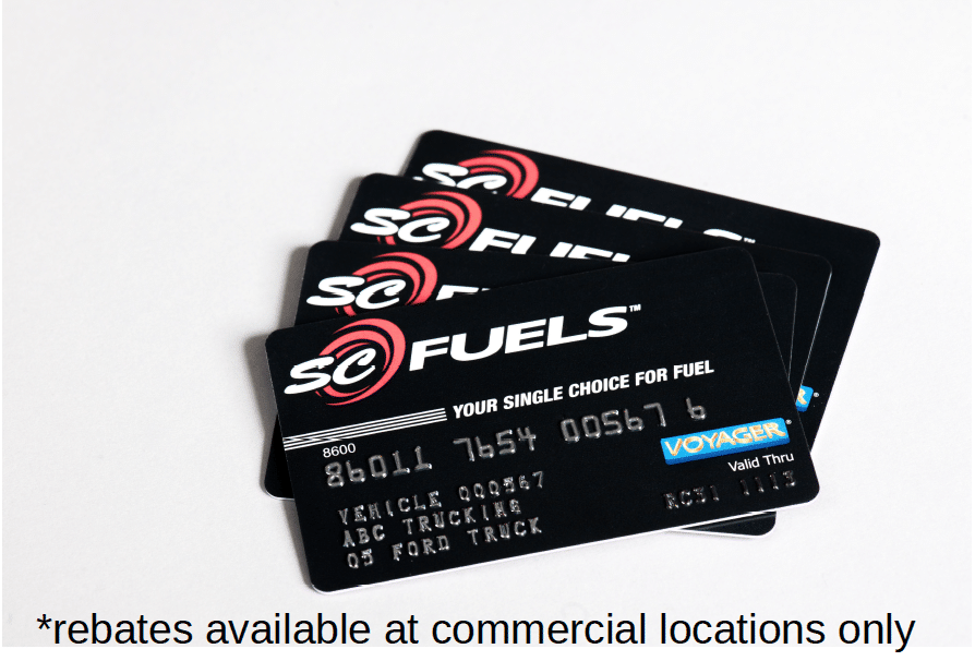 4 SC Fuels feet cards