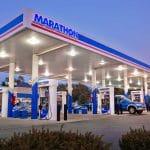 a marathon branded gas station