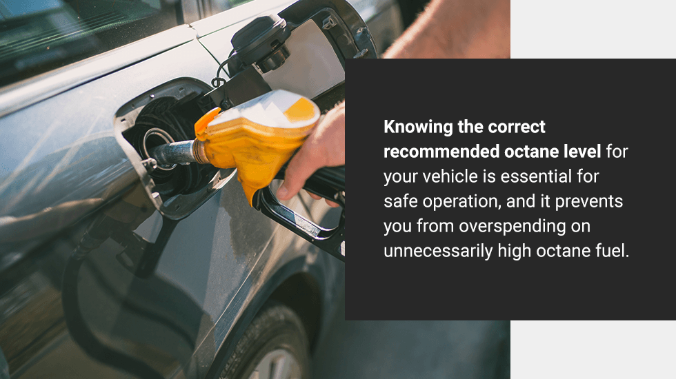 find out the correct recommended octane level